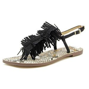 Sam Edelman Gela Sandals, Black Suede